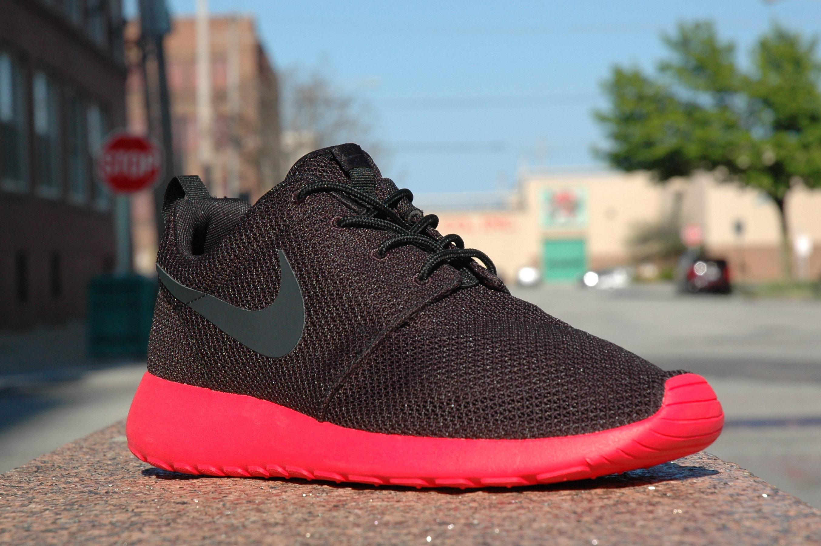 077366b00c58 Nike Roshe Run Hyperfuse – Atomic Red – Black. Graphic prints happen to be  getting to be a good deal far more frequent with Nike Sportswear footwear  choices ...